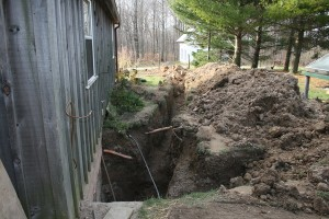 Water line to the Bunkhouse