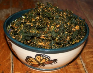 Kale Chips with Cashews