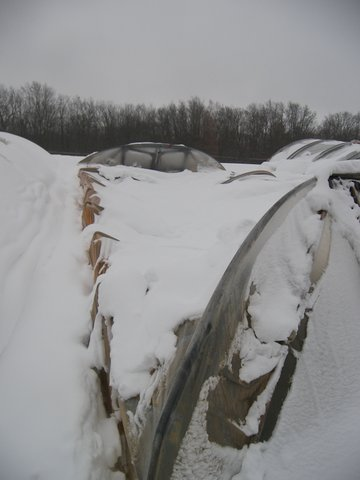 Collapsed Hoop House
