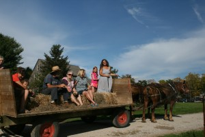 Wagon ride at the CSA Pot Luck