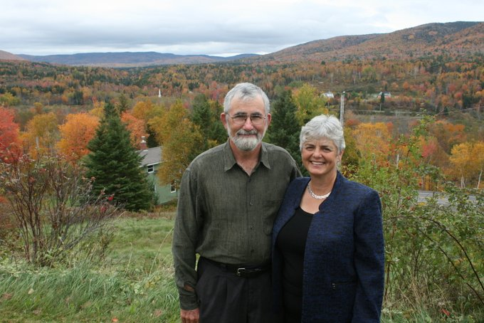 Ken and Martha in Cape Breton