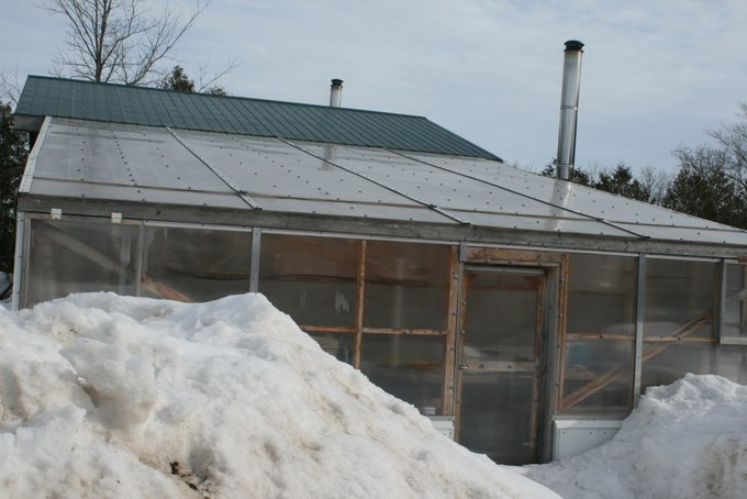 Snow and Ice Gone from Greenhouse Roof