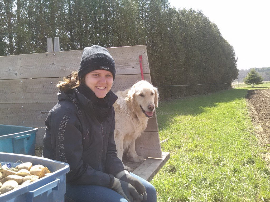 Alina and Caesar Waiting to Plant Potatoes